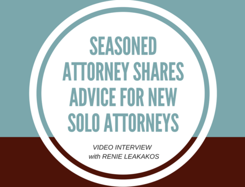 Renie Leakakos, Shares Advice for New Solo Attorneys