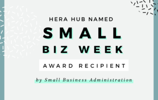 Hera Hub Named Small Business Week Award Recipient by SBA